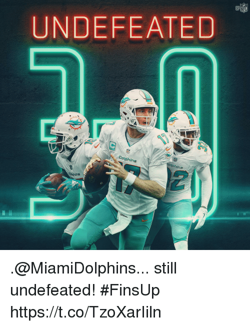 Memes, Nfl, and Undefeated: CO  NFL  UNDEFEATED  ophins .@MiamiDolphins... still undefeated! #FinsUp https://t.co/TzoXarIiln