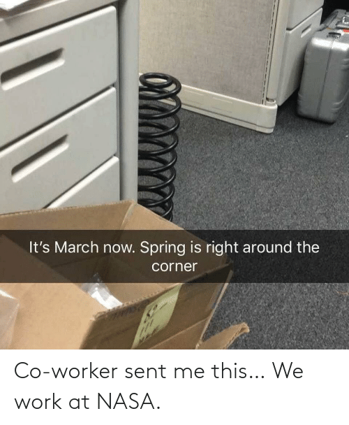 co-worker: Co-worker sent me this… We work at NASA.