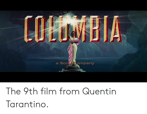 colbi: COLBI  a Son ompany The 9th film from Quentin Tarantino.