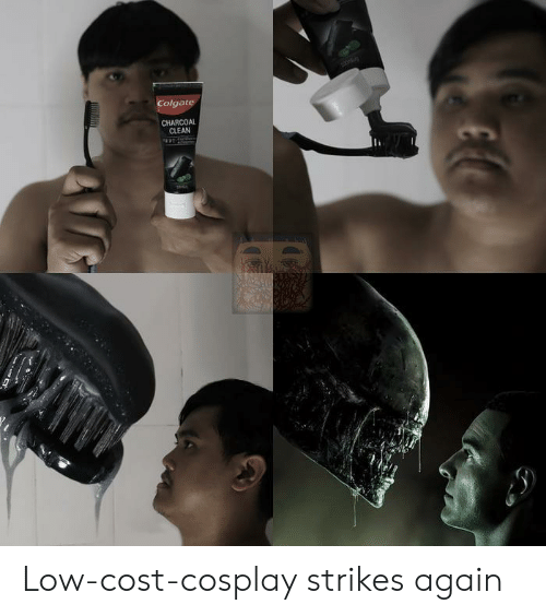 Strikes: Colgate  CHARCOAL  CLEAN Low-cost-cosplay strikes again