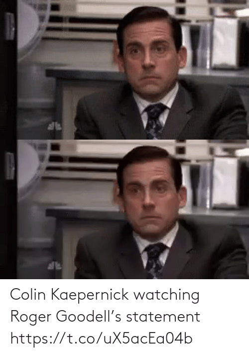 NFL: Colin Kaepernick watching Roger Goodell's statement https://t.co/uX5acEa04b