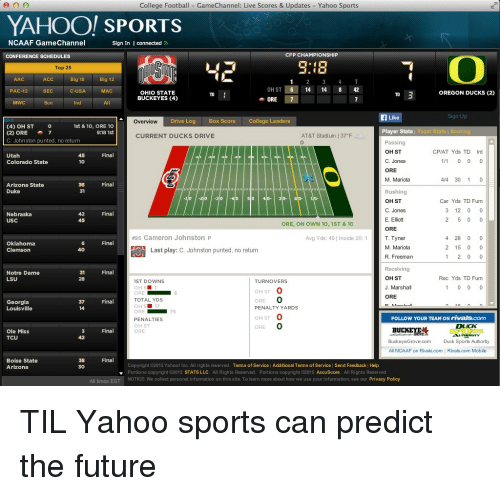 ncaaf scores yahoo football bleachers