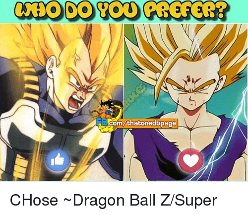 Dragon Ball Z Super: com/thatonedbpage CHose  ~Dragon Ball Z/Super