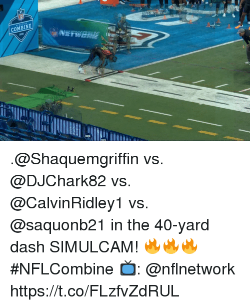 Memes, 🤖, and Dash: COMBINE  2018 .@Shaquemgriffin vs. @DJChark82 vs. @CalvinRidley1 vs. @saquonb21 in the 40-yard dash SIMULCAM! 🔥🔥🔥  #NFLCombine  📺: @nflnetwork https://t.co/FLzfvZdRUL