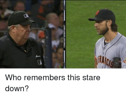 Mlb, Comcast, and Who: COMCAST SPORTSNET Who remembers this stare down?