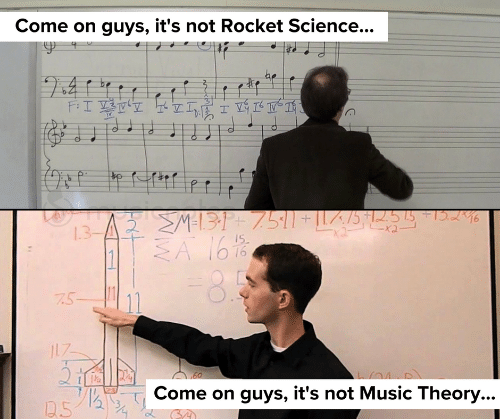 Theory: Come on guys, it's not Rocket Science...  be  I  >M=131+ 7511+ILZ/5 * |255  SA 1616  46  2 2  7.5-  17  Come on guys, it's not Music Theory...