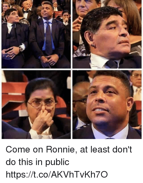 Ronnie: Come on Ronnie, at least don't do this in public https://t.co/AKVhTvKh7O