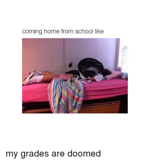 Girl Memes: coming home from school like my grades are doomed