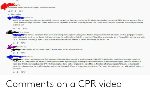 cpr: Comments on a CPR video