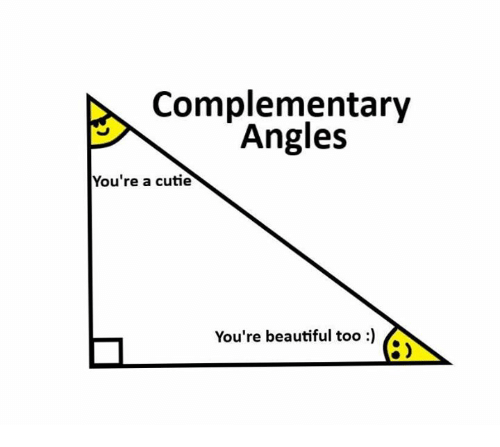 Beautiful, Youre, and Cutie: Complementary  Angles  You're a cutie  You're beautiful too)