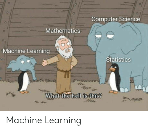 Hell Is: Computer Science  Mathematics  Machine Learning  Statistics  What the hell is this? Machine Learning