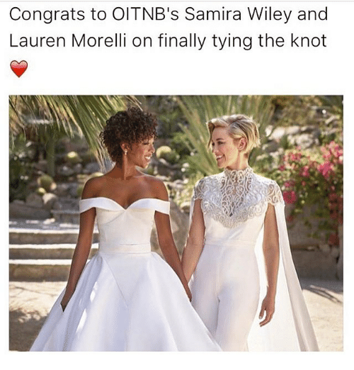 Knotting: Congrats to OITNB's Samira Wiley and  Lauren Morelli on finally tying the knot