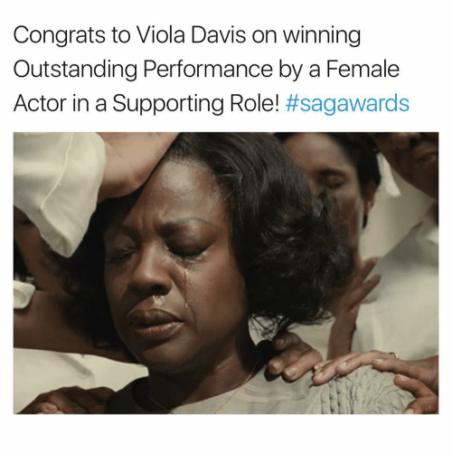 Memes, 🤖, and Davis: Congrats to Viola Davis on winning  Outstanding Performance by a Female  Actor in a Supporting Role!