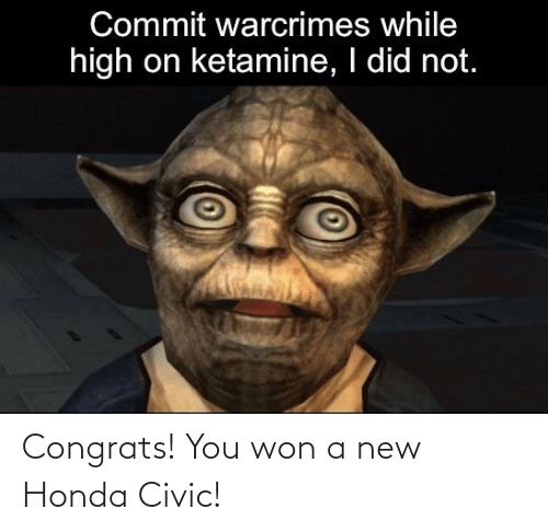 Honda: Congrats! You won a new Honda Civic!