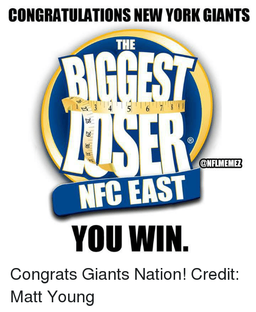 New York, New York Giants, and Nfl: CONGRATULATIONS NEW YORK GIANTS  THE  6 1 STI  ANEN  CONFLIMEMEZ  NFC EAST  YOU WIN Congrats Giants Nation!
