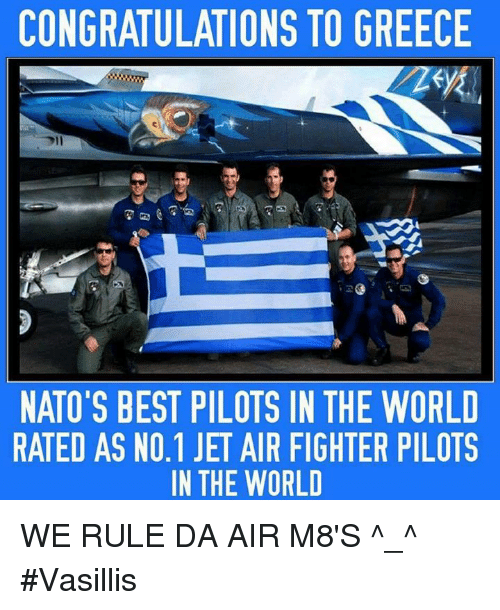 CONGRATULATIONS TO GREECE NATO'S BEST PILOTS IN THE WORLD ...
