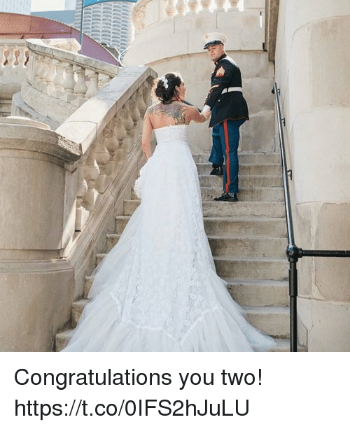 Memes, Congratulations, and 🤖: Congratulations you two! https://t.co/0IFS2hJuLU