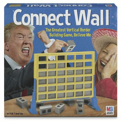 milton: Connect Wall  The Greatest Vertical Border  Building Game, Believe Me  he  MB  AGES 7 and Up  MILTON  RADLEY