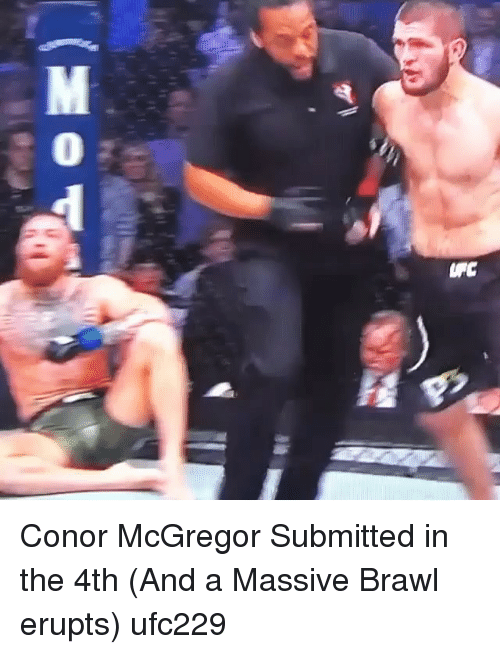 Conor McGregor: Conor McGregor Submitted in the 4th (And a Massive Brawl erupts) ufc229