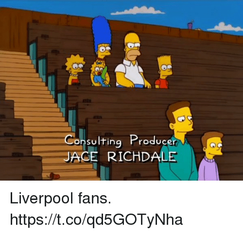 Soccer, Liverpool F.C., and Producer: Consulting Producer  JACE RICHDALE Liverpool fans. https://t.co/qd5GOTyNha