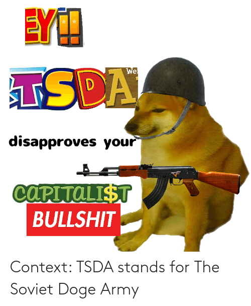 stands for: Context: TSDA stands for The Soviet Doge Army