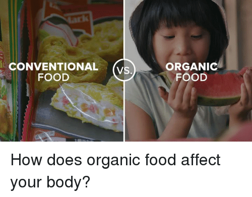Memes, Affect, and 🤖: CONVENTIONAL  FOOD  VS.  ORGANIC  FOOD How does organic food affect your body?