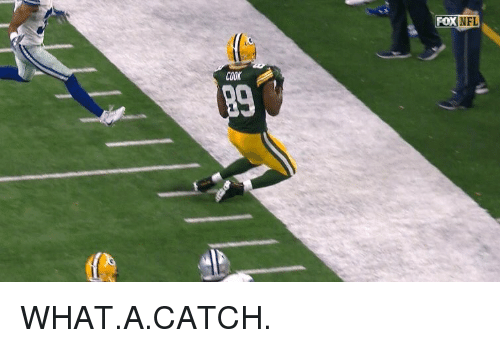 Sports: COOK  FOX WHAT.A.CATCH.