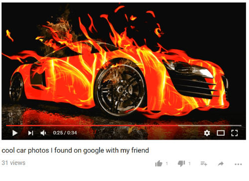 Youtube Snapshots: cool car photos l found on google with my friend  31 views  I 1 1  r 1