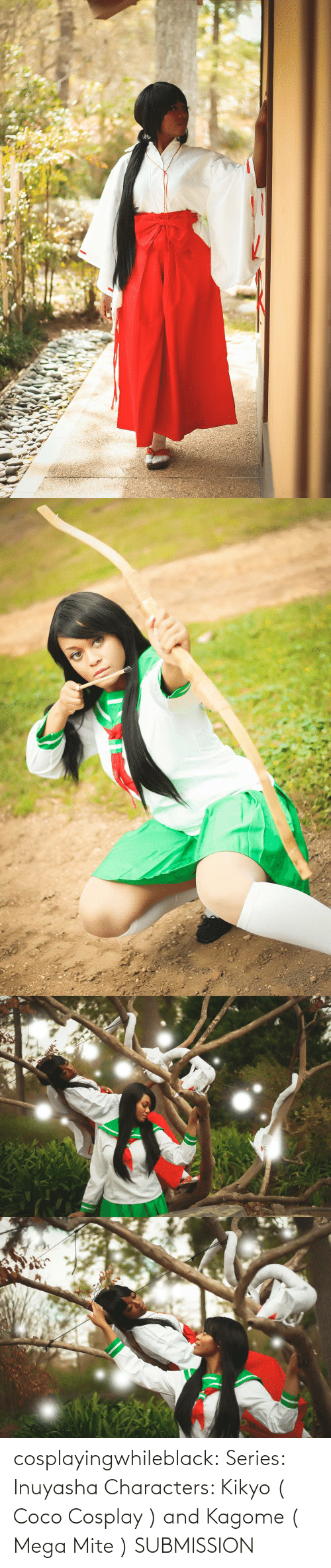 Cosplay: cosplayingwhileblack:    Series: Inuyasha Characters: Kikyo ( Coco Cosplay ) and Kagome ( Mega Mite )   SUBMISSION