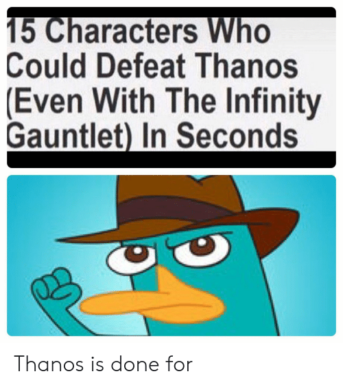 The Infinity Gauntlet: Could Defeat Thanos  (Even With The Infinity  Gauntlet) In Seconds Thanos is done for