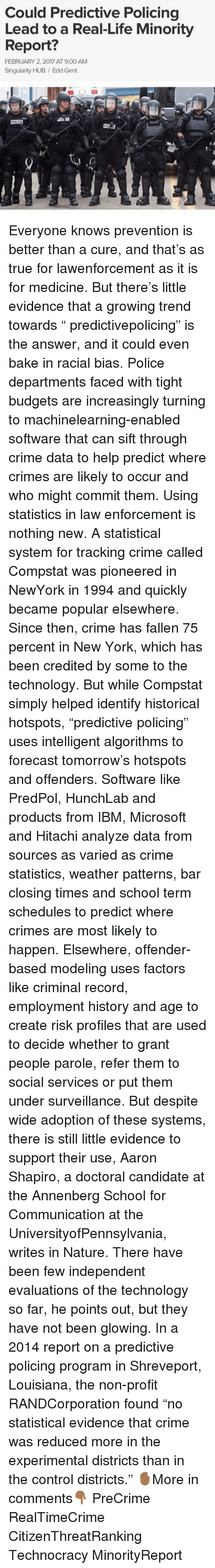 compstat law enforcement with predictive policing