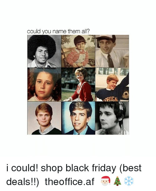 Af, Black Friday, and Friday: could you name them all? i could! shop black friday (best deals!!) ➵ theoffice.af 🎅🏻🎄❄️‬