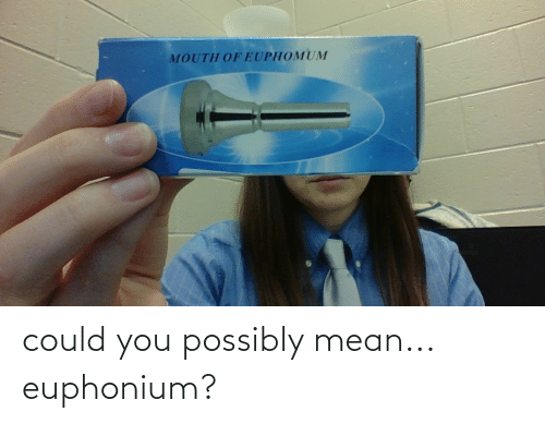 euphonium: could you possibly mean... euphonium?