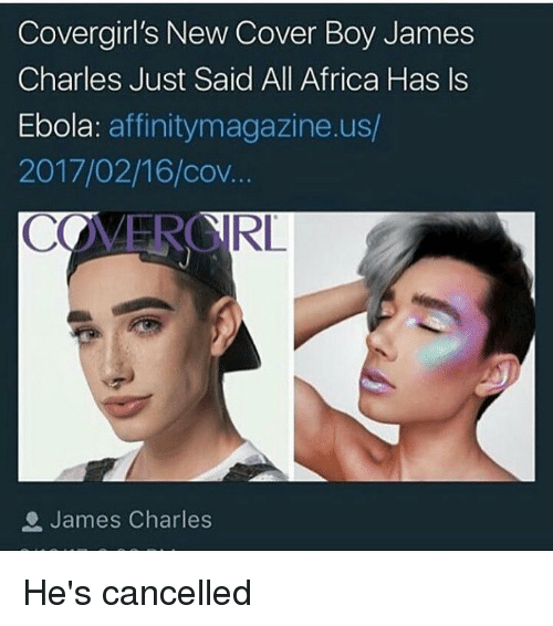Cover Girl's New Cover Boy James Charles Just Said All