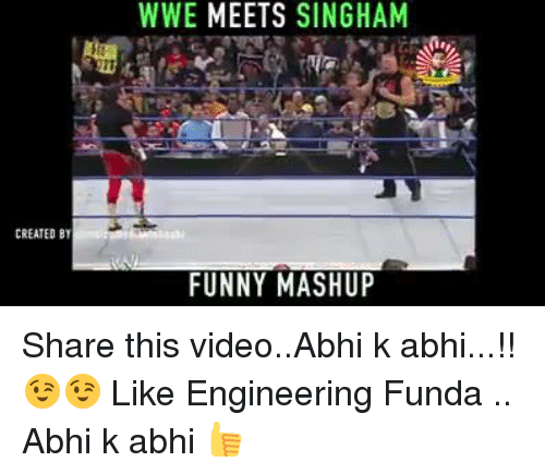 Funny Meme Mashups : Created by wwe meets singham funny mashup share this