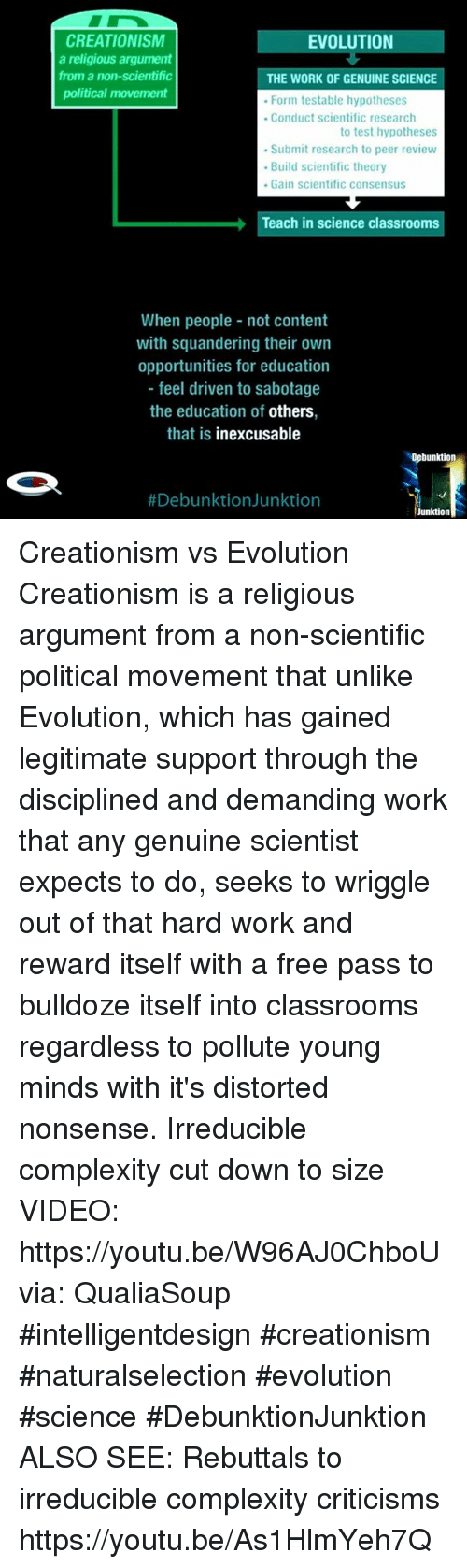 an analysis of creation versus evolution on an educational view Free essay: creation v evolution: an educational view many words have been written about the origins of things numerous ancient people believed that.