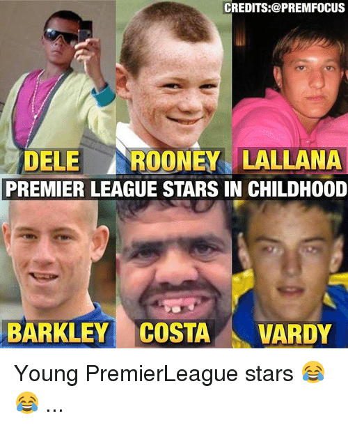 vardy: CREDITS:@PREMFOCUS  DELE ROONEY LALLANA  PREMIER LEAGUE STARS IN CHILDHOOD  BARKLEY COSTA VARDY Young PremierLeague stars 😂😂 ...