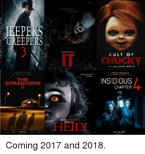 CREEPERS THE STRANGERS 2018 TOUI FEARS ART UNLEASHED ...