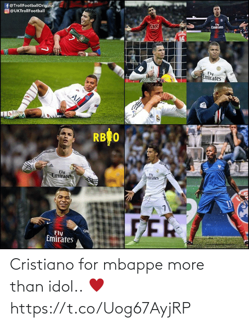cristiano: Cristiano for mbappe more than idol.. ♥ https://t.co/Uog67AyjRP