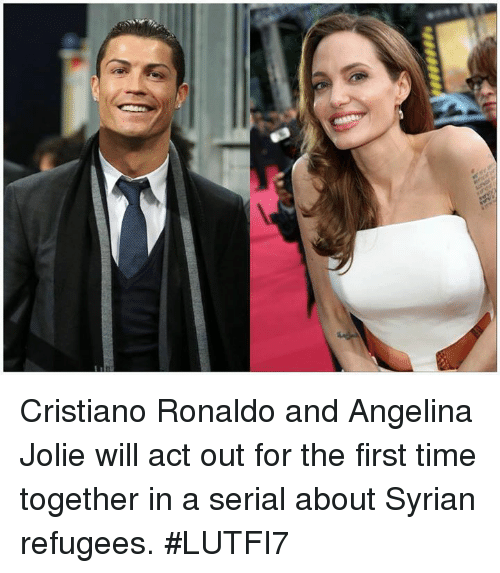 Syrian Refugees: Cristiano Ronaldo and Angelina Jolie will act out for the first time together in a serial about Syrian refugees.  #LUTFI7