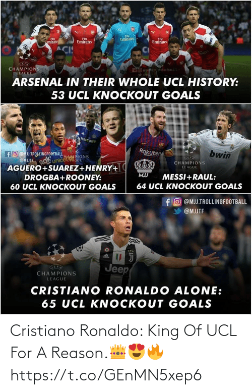 King Of: Cristiano Ronaldo: King Of UCL For A Reason.👑😍🔥 https://t.co/GEnMN5xep6