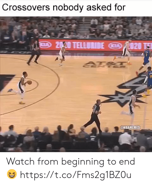 Nbamemes: Crossovers nobody asked for  NBAMEMES Watch from beginning to end 😆 https://t.co/Fms2g1BZ0u