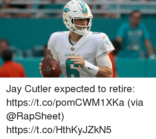 cutler: CRUCIAL  CATCH  53 Jay Cutler expected to retire: https://t.co/pomCWM1XKa (via @RapSheet) https://t.co/HthKyJZkN5
