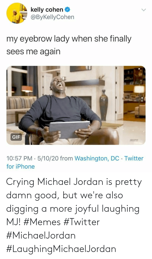 Jordan: Crying Michael Jordan is pretty damn good, but we're also digging a more joyful laughing MJ! #Memes #Twitter #MichaelJordan #LaughingMichaelJordan