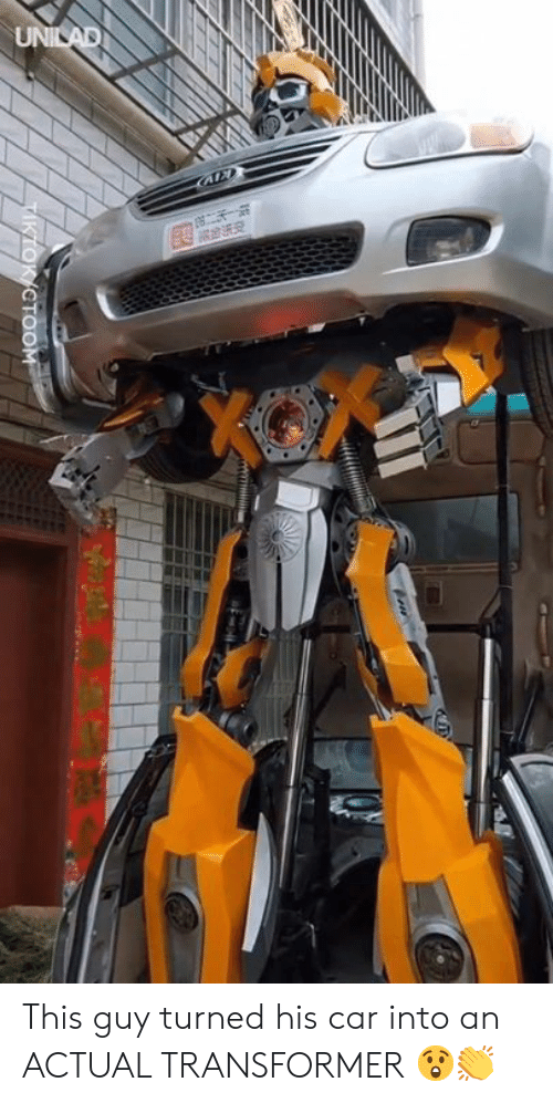 transformer: CTOOM This guy turned his car into an ACTUAL TRANSFORMER 😲👏