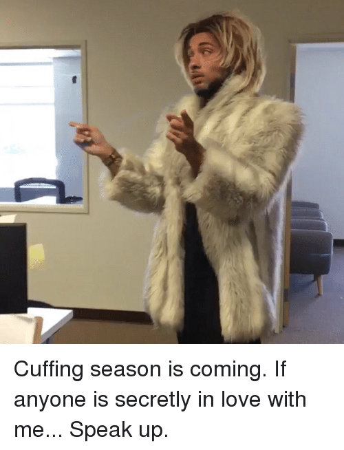 Funny: Cuffing season is coming. If anyone is secretly in love with me... Speak up.