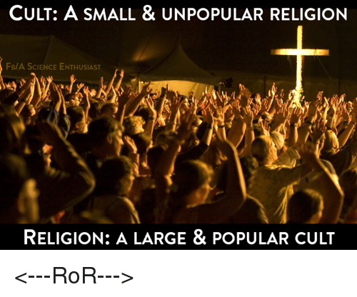 religion as a cult
