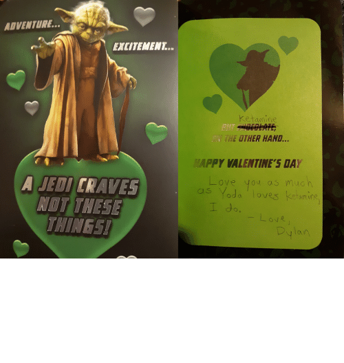 valentines day card: Customized a Yoda Valentine's Day Card for a Friend