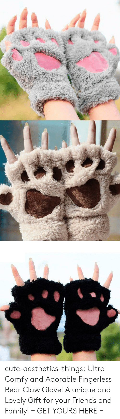 Glove: cute-aesthetics-things: Ultra Comfy and Adorable Fingerless Bear Claw Glove! A unique and Lovely Gift for your Friends and Family! = GET YOURS HERE =