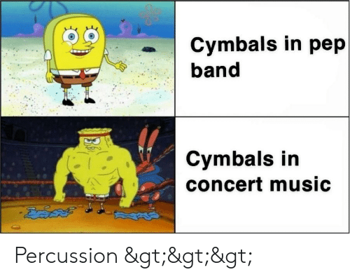 cymbals: Cymbals in pep  band  Cymbals in  concert music  డడద Percussion >>>